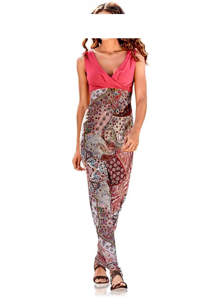 Maxikleid koralle-bunt Gr. 36 | Kleider | Outlet Mode-Shop