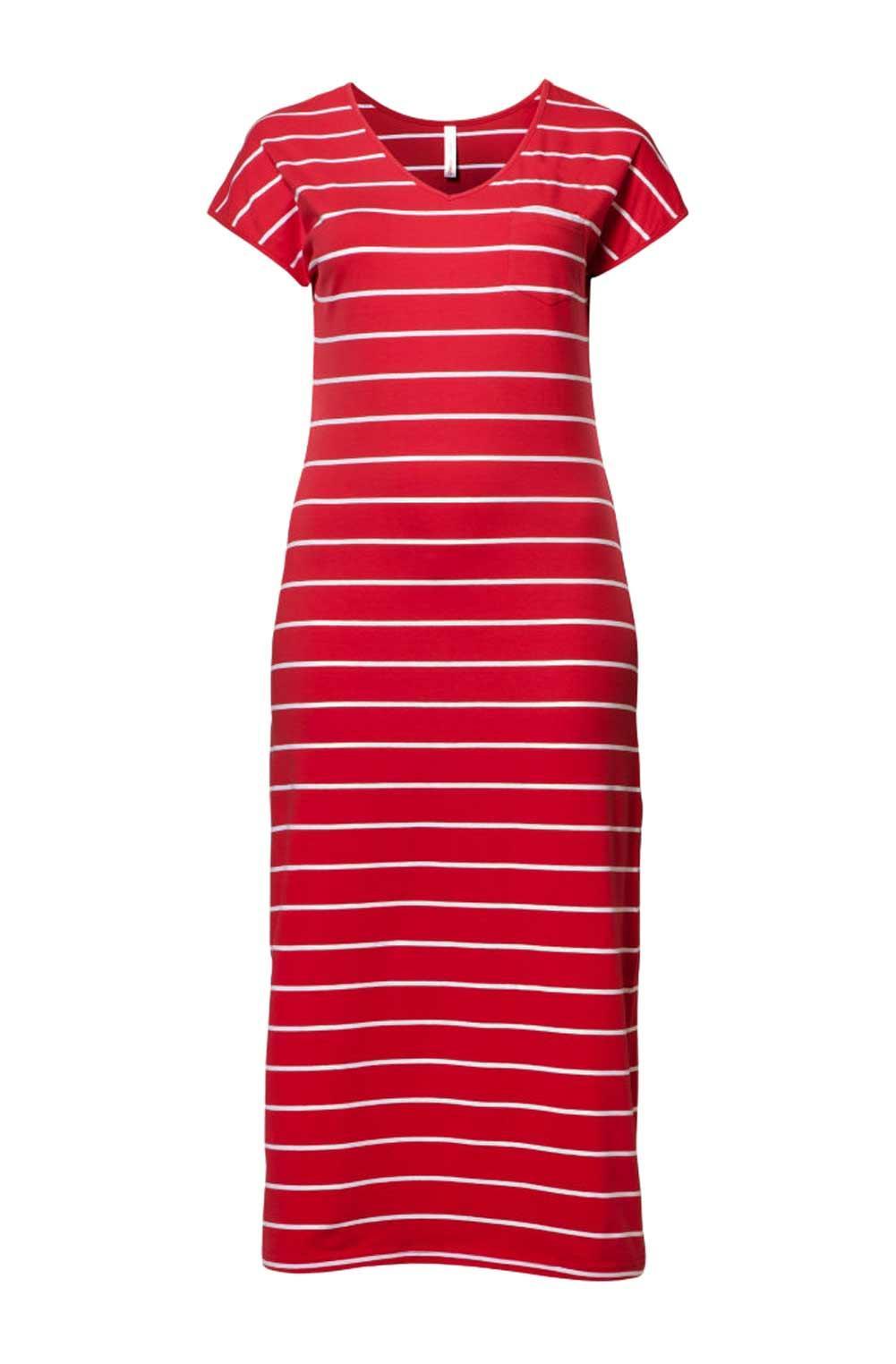 innovative design 6b58e 9706d Maxikleid rot-weiß gestreift | Kleider | Outlet Mode-Shop