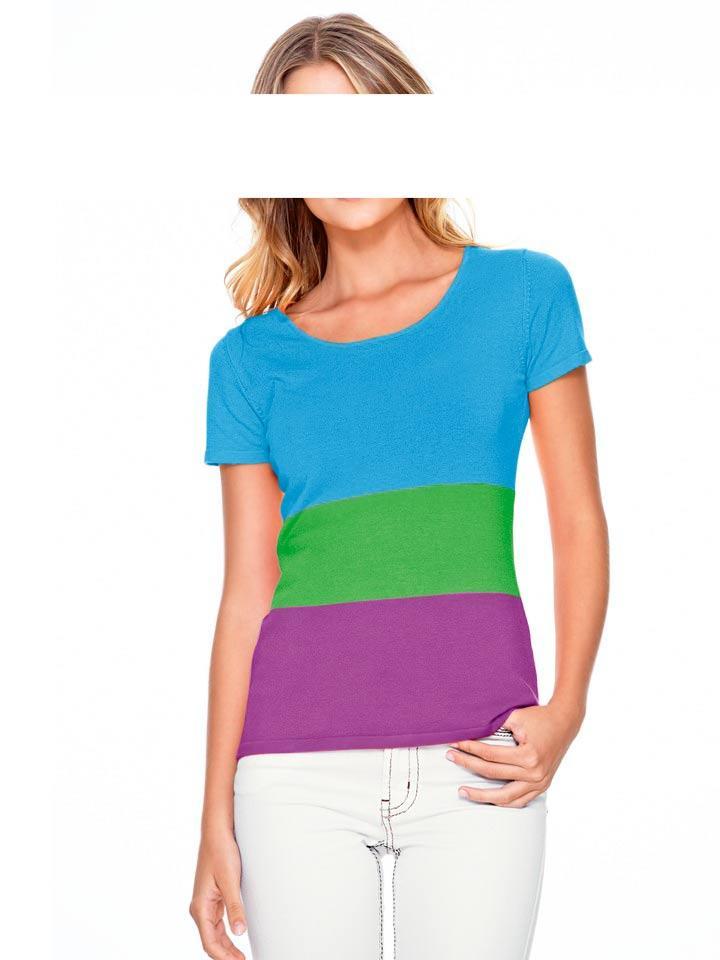 Pullover türkis-grün-lila   Strickwaren   Outlet Mode-Shop f264ff0c11