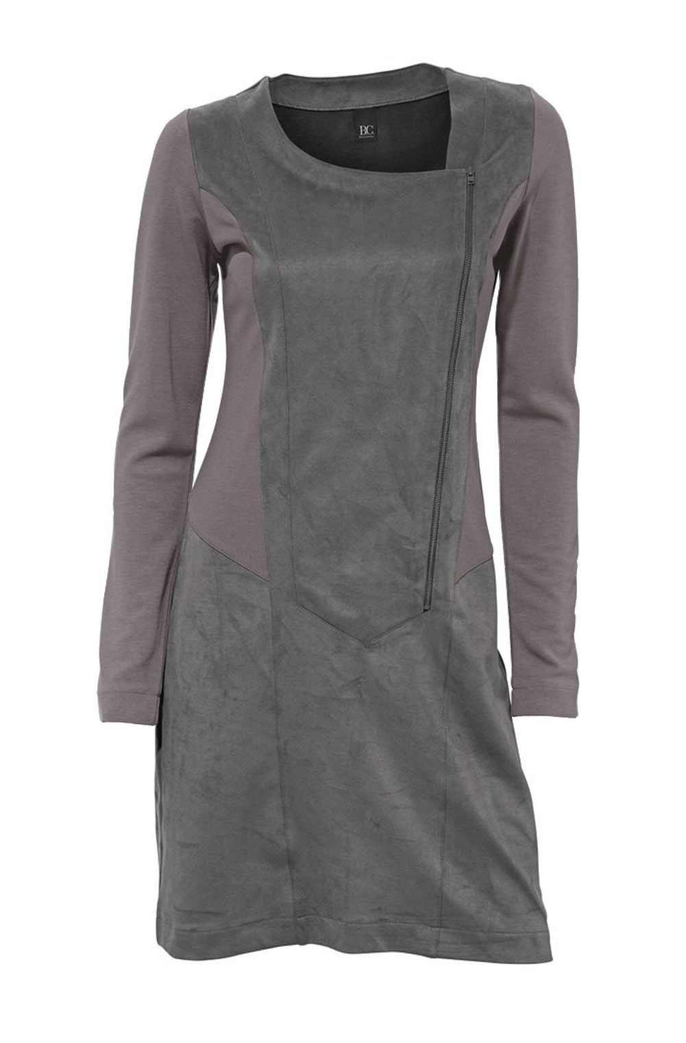 Reißverschluß-Patchkleid grau Gr.46   Kleider   Outlet ...