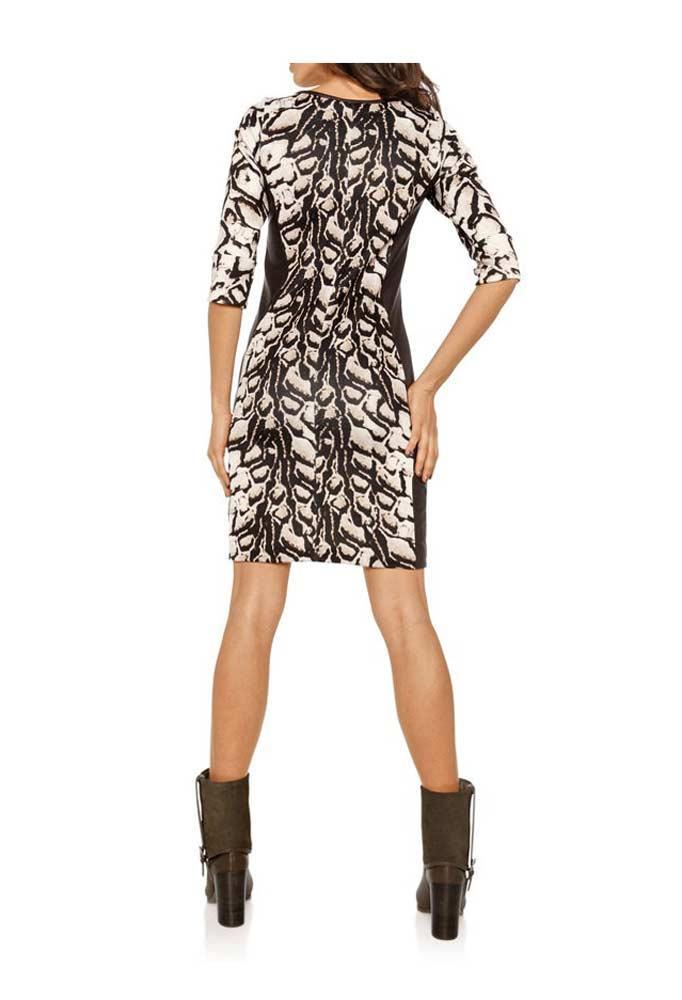 Reptilprint-Kleid braun-bunt Größe 38 | Kleider | Outlet ...