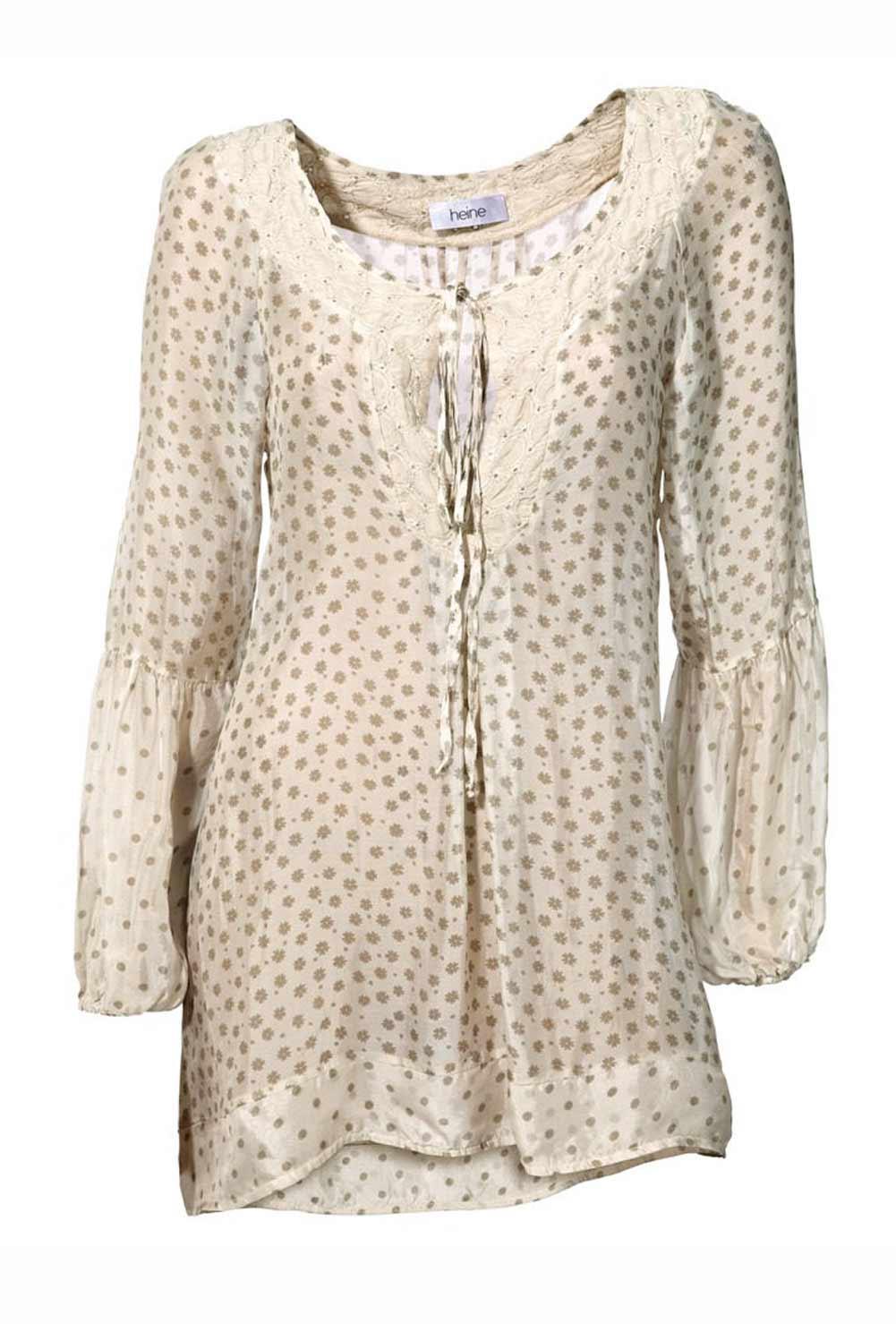 Seiden-Tunika beige Größe 46 | SALE % | Outlet Mode-Shop