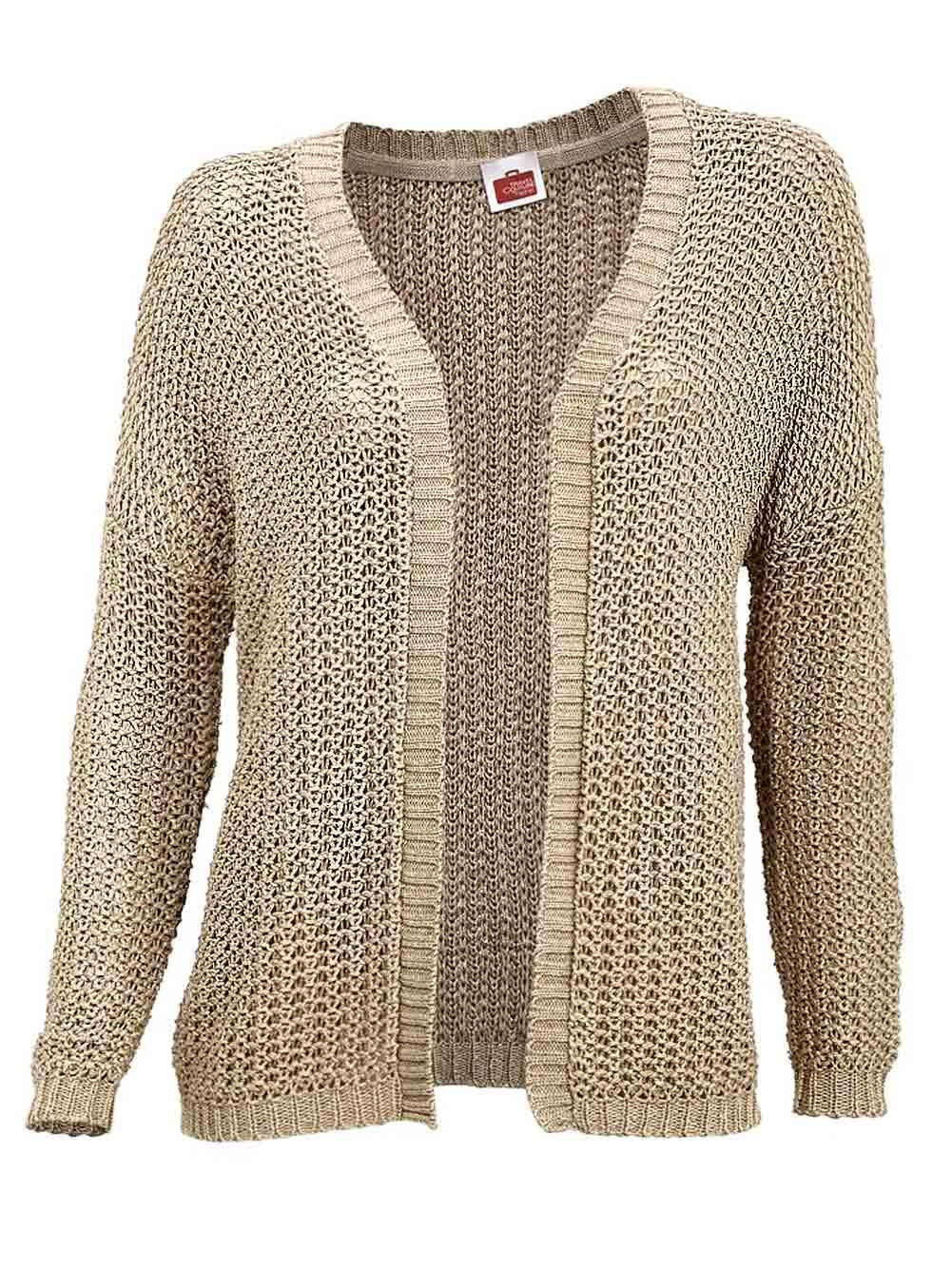 gut aus x Original Für Original auswählen Strickjacke goldfarben | Strickwaren | Outlet Mode-Shop
