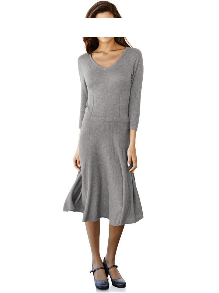 2629d4c8cfc0 Strickkleid grau   Kleider   Outlet Mode-Shop