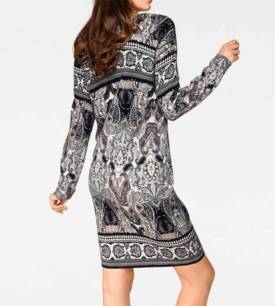 af24c023e355 Strickkleid grau-bunt   Kleider   Outlet Mode-Shop